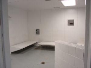 Jail holding cell interior
