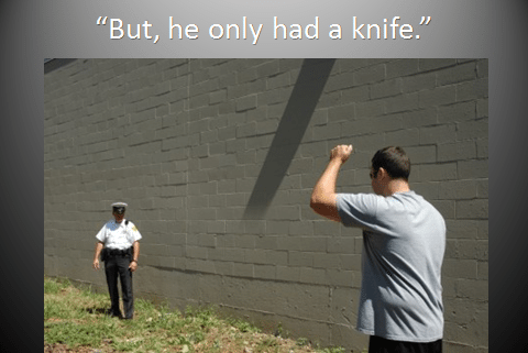 But, he only had a knife