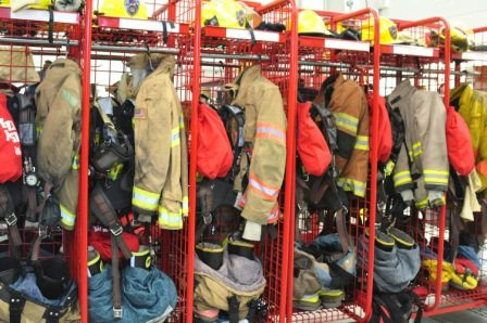 Patti Philips: what does a firefighter wear